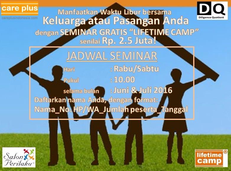 SEMINAR LIFETIME CAMP® – JAKARTA