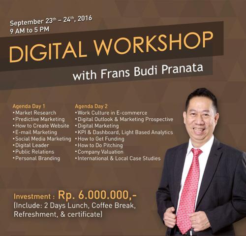 Seminar Digital Worshop Bali. Frans Budi Pranata