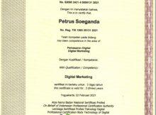 Pembicara Internet Marketing Sertifikasi BNSP Petrus Soeganda